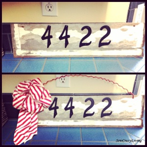 House Numbers Shabby Chic Sign