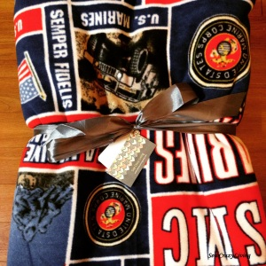 Custom Marine Blanket Fleece Throw