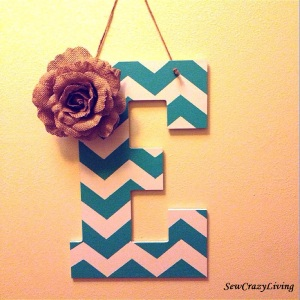 Chevron Letter - Welcome Sign